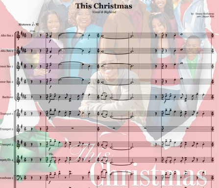 Preview This Christmas - version for female singer Bigband Score here