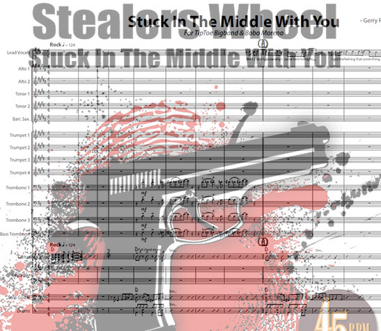 Preview Stuck In The Middle Bigband Score here