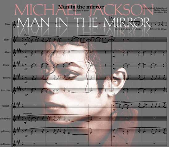 Preview Man in the mirror Bigband Score here