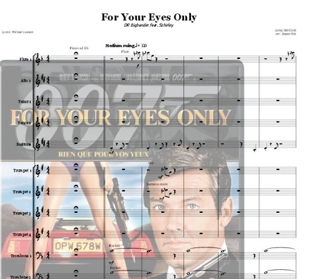 Preview For Your Eyes Only (F) Bigband Score here