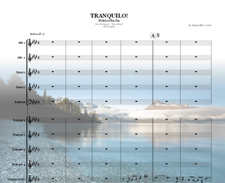 Preview Tranquilo! Bigband Score here