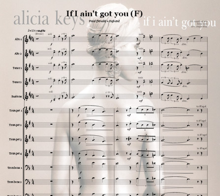 Preview If I ain't got you (G) Bigband Score here