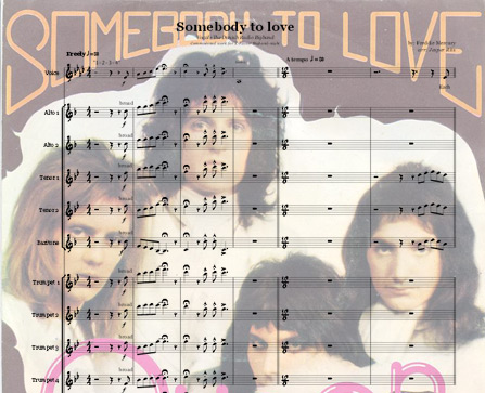 Preview Somebody to love Bigband Score here