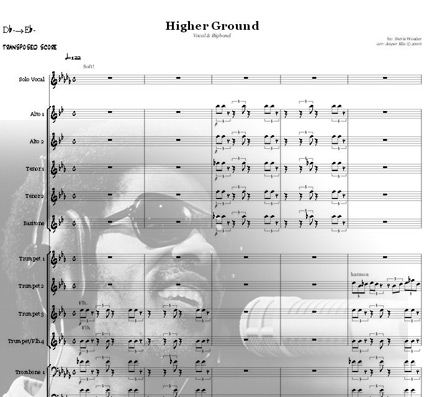 Preview Higher Ground (Dbm-Ebm) Bigband Score here