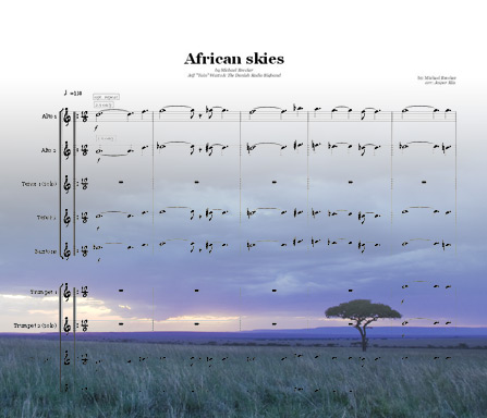 Preview African Skies Bigband Score here