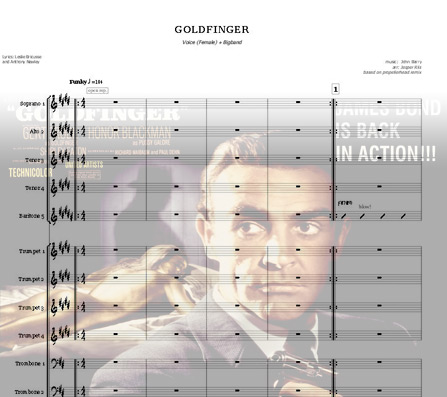 Preview Goldfinger Bigband Score here