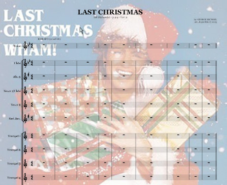 Preview Last Christmas Bb-major Bigband Score here