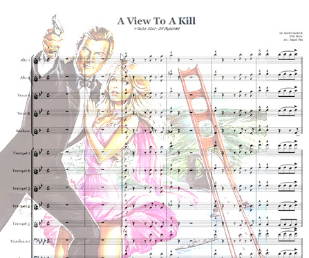 Preview A view to a kill Bigband Score here