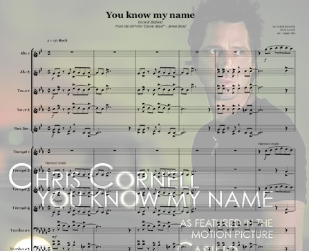 Preview You Know My Name (Bb-minor) Bigband Score here