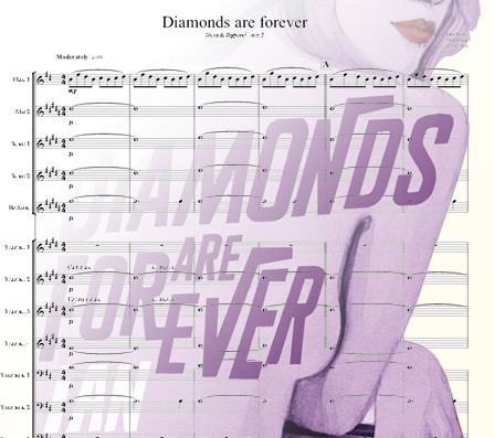 Preview Diamonds are forever Bigband Score here