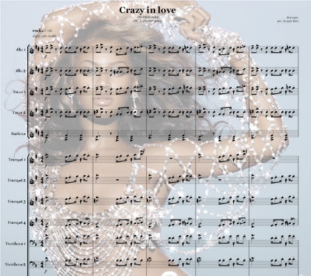 Preview Crazy in love Bigband Score here