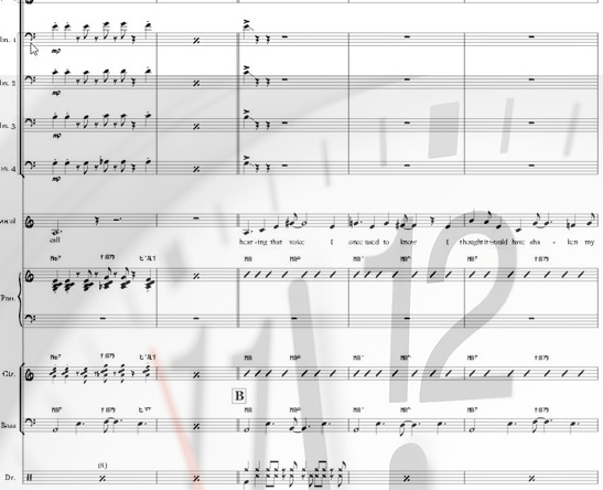 Preview Too Late Bigband Score here