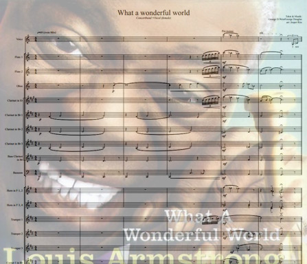 Preview What a wonderful world Bigband Score here