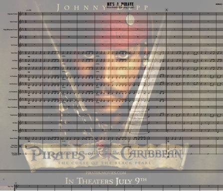 Preview He's A Pirate Bigband Score here