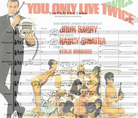Preview You Only Live Twice Bigband Score here
